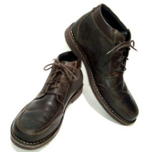 Clarks 13 Brown Lace Up Chukka Leather Boots Shoes